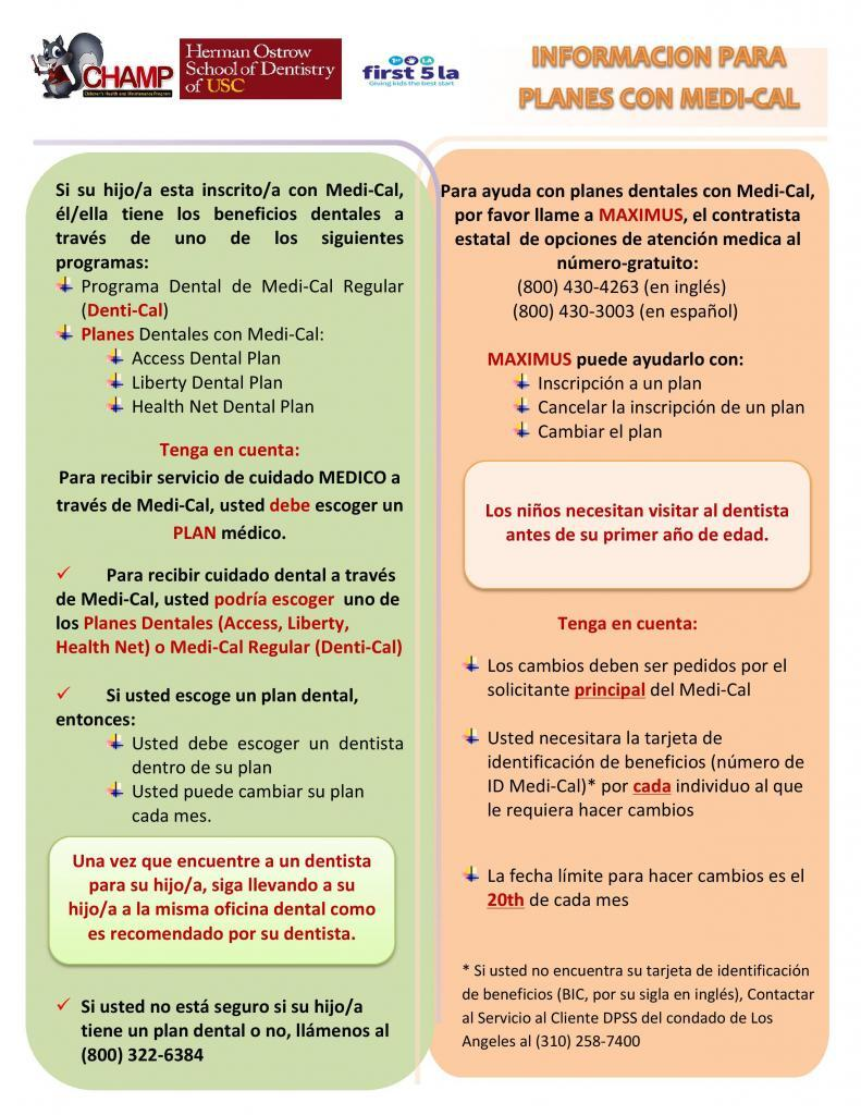 FLYER_MEDI-CAL DENTAL PLANS INFORMATION_SPANISH_V3_09-29-15-page-001
